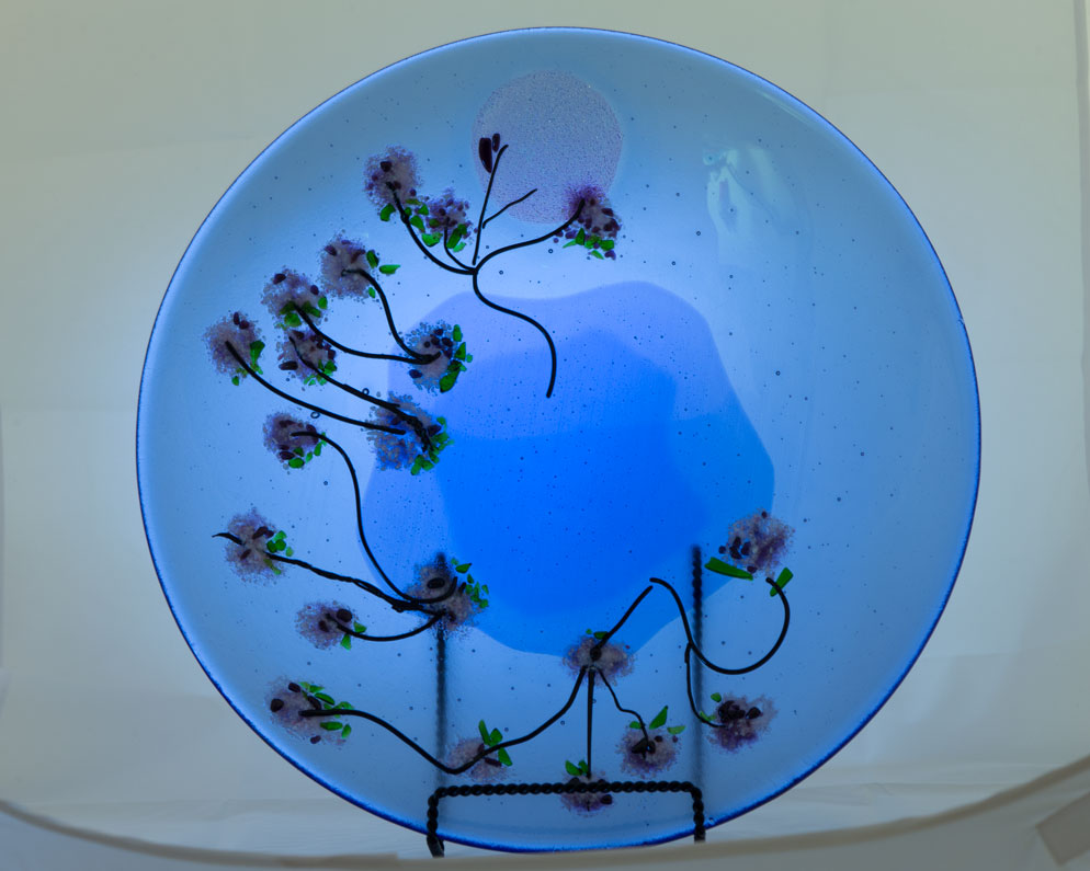 Cherry Blossoms Plate by J. Vincent